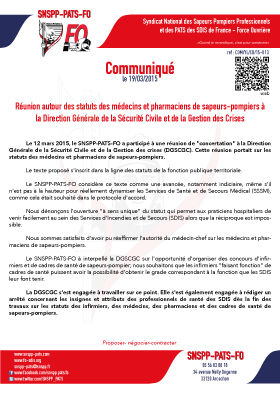 SSSM : Statuts médecins et pharamaciens