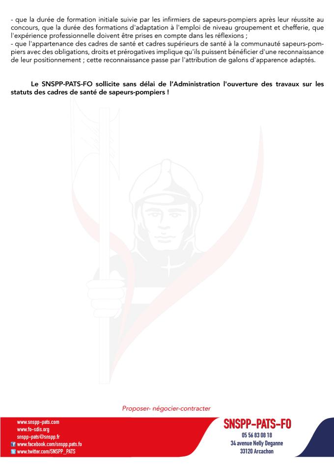 Projets de décrets sur le Statut des cadres et cadres supérieurs de santé SPP