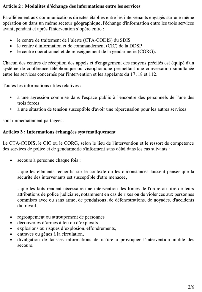 Protocole de prévention et de luttes contre les agressions
