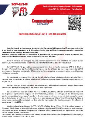 Nouvelles élections CAP A et B : une date annoncée