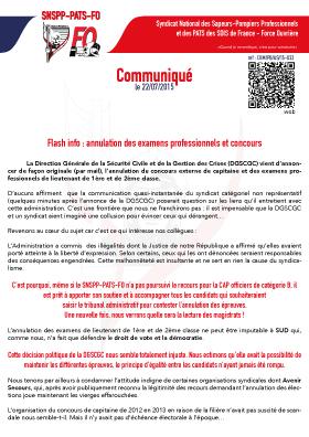 Flash info : annulation des examens professionnels et concours