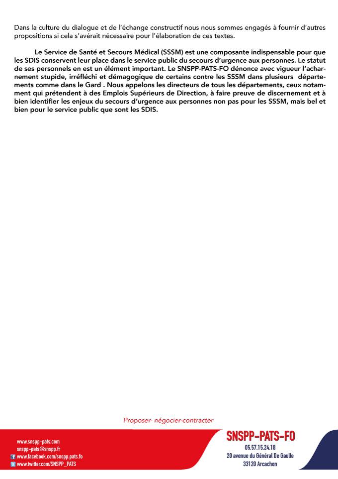 Compte rendu de la réunion relative au statut des cadres et cadres supérieurs de santé