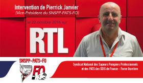Vidéo : Intervention de Pierrick Janvier au micro de RTL - 22/10/2016