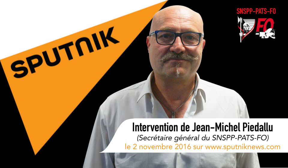 Soutien aux policiers : Jean-Michel Piedallu au micro de Sputniknews