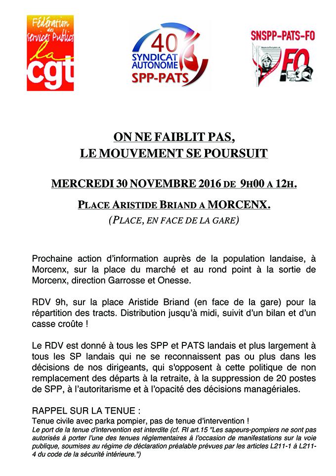 Mobilisation le 30 novembre dans les Landes