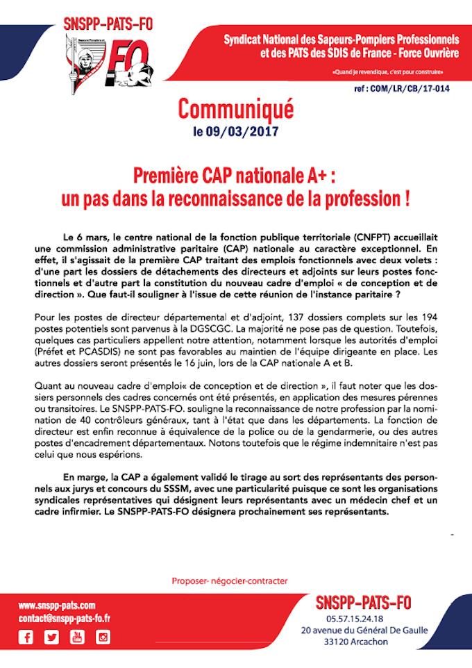 Première CAP nationale A+ : un pas dans la reconnaissance de la profession !