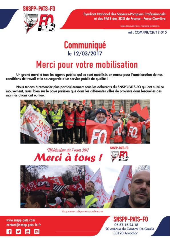 Mobilisation du 7 mars : merci à tous !