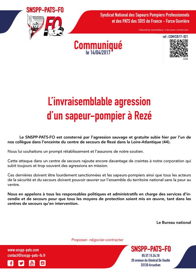 L'invraisemblable agression d'un sapeur-pompier à Rezé (44)