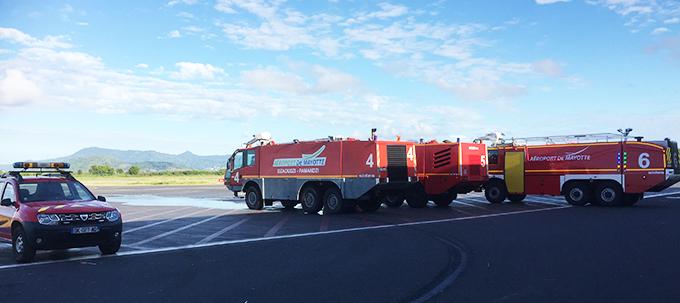 Grève des pompiers de l'aéroport de Mayotte